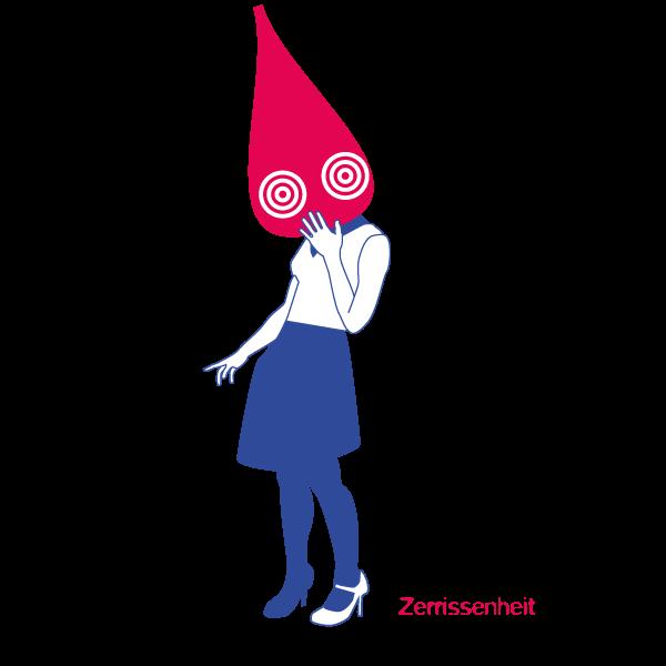 Illustration Zerrissenheit Jens Tasche Geistes Modell