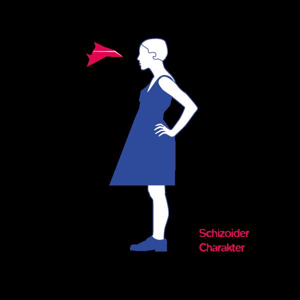 Illustration Schizoider Charekter Jens Tasche Geistes Modell