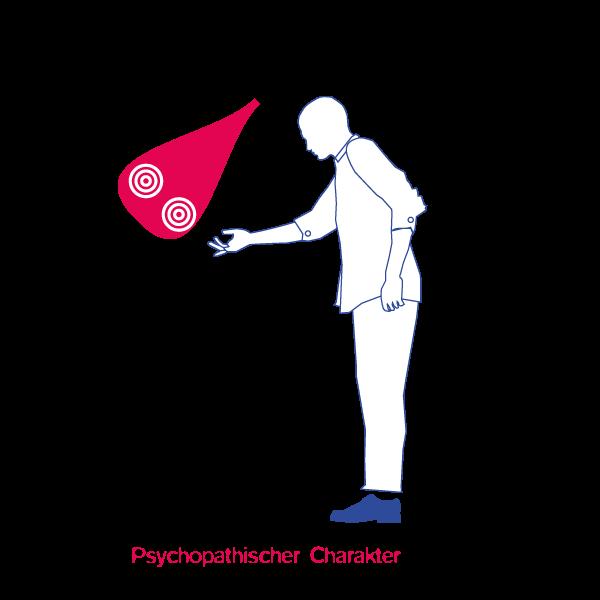 Illustration Psychopatischer CharakterJens Tasche Geistes Modell